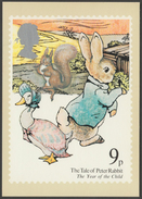 The Tale Of Peter Rabbit, 9p, 1979 - Royal Mail Stamp Card PHQ 37a - Stamps (pictures)