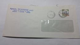 ITALIA 1984 - (1757) CASTELLI L.400 USO ISOLATO SU LETTERA - 1981-90: Storia Postale