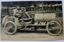 Cartolina Le Blon Sur Voiture Hotchkiss Inizio '900 - Foto