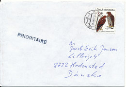 Czech Republic Cover Sent To Denmark 3-5-2004 Single Franked BIRDS - Tchéquie