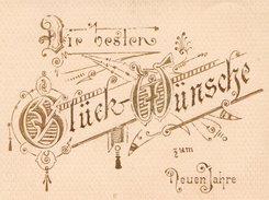 Carte De Meilleurs Voeux De Bonne Année En Allemand - Gauffrée Et Dorée - Dir Besten Gluck Wünscke Zum Neuen Jahre - Vecchi Documenti