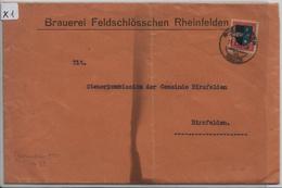 1926 Pro Juventute J39/220 (Brauerei Feldschlösschen Rheinfelden) Nach Birsfelden 11.1.27 - Pro Juventute