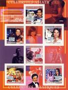 COMORES 2009 SHEET ASIAN CELEBRITIES FAMOUS CELEBRITES ASIATIQUES GANDHI NOBEL YAO MING BASKET SPACE MAO ZEDONG Cm9202a - Comores (1975-...)