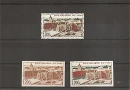 Mali-Tombouctou-Mosquée ( PA 13 XXX -MNh- + PA 13 Non Dentelé + 1 Essai De Couleur à Voir) - Mali (1959-...)