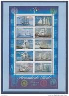= Sur Carte Programme émissions 2ème Semestre 1999 Reprise Timbres 3269 à 3278 Les Voiliers De L'Armada Du Siècle - Postdokumente