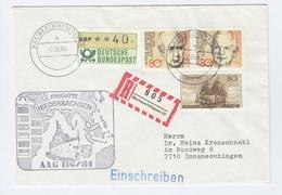 1984 COVER GERMANY NAVY In PAKISTAN, TURKEY, MALAYSIA, SINGAPORE Visit SHIP Niedersachsen Marineschiffspost Pmk Stamps - Pakistan