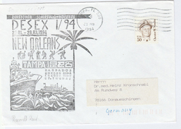 1994 COVER USA NAVY In NEW ORLEANS, BARBADOS , FLORIDA Visit SHIP Stamps Music - Ships
