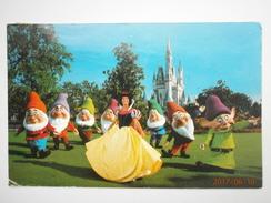 Postcard Walt Disney World Snow White And The Seven Dwarfs PU 1982 ? My Ref B11350 - Disneyworld