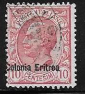 Eritrea, Scott # 36 Used Italy Stamp Overprinted, 1909 - Erythrée