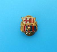 FC BARCELONA Spain Football Club Old Buttonhole Pin Badge Fussball Futbol Soccer Futebol Calcio Anstecknadel Foot Espana - Football