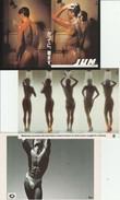 Lot 3 CPM Nus Masculins, Féminins, Non Circulées - Nus Adultes (< 1960)