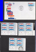South Africa, 1927 - 1977, Anniversary Of National Flag, First Day Cover + Control Blocks - Hojas Bloque