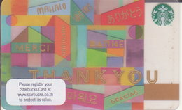 Thailand Starbucks Card Thank You - 2015 - 6127 - Gift Cards