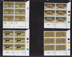 South Africa, 1976 Paul Bosman Wild Animals,  Control Blocks - Blocs-feuillets