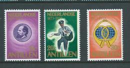 Netherlands Antilles 1973 Stamp Centenary Set Of 3 MNH - Curacao, Netherlands Antilles, Aruba