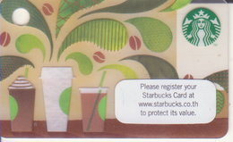 Thailand Starbucks Card  How To Make Coffee Mini Card - 2014-6119 - Gift Cards