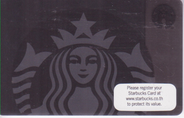 Thailand Starbucks Card  Black Siren Lady - 2015-6110 - Gift Cards