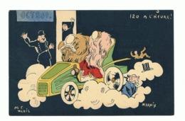 Illustrateur MARNIX ( M F Paris)  Humour - 1904 - Déboires D'un Couple En Auto -Excès De Vitesse (fr47) - Illustratori & Fotografie