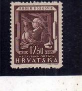 HRVATSKA CROATIA CROAZIA 1943 Rugjer Boscovich (1711-1787). Mathematician And Physicist 12.50 K MLH - Croazia