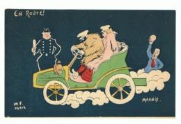 Illustrateur MARNIX ( M F Paris)  Humour - 1904 - Déboires D'un Couple En Auto - En Route (fr47) - Illustrators & Photographers