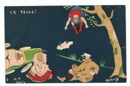 Illustrateur MARNIX ( M F Paris)  Humour - 1904 - Déboires D'un Couple En Auto - Accident, Paysanne (fr47) - Illustratori & Fotografie