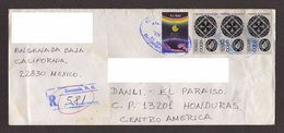 Mexico, Cover Circulated From Ensenada-Danli With Stamps Eclipse, Mexico Exports Wrought Iron, 1994 - Mexico