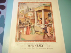 ANCIENNE PUBLICITE EN RUSSIE COGNAC HENNESSY - Alcools