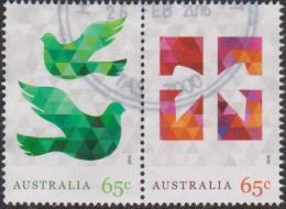 AUSTRALIA - USED 2015 65c Christmas, Joined Pair - 2010-... Elizabeth II