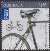AUSTRALIA - USED 2015 $1.85 Bicycles, International - Men's Sprung Frame Bike, 1930's - 2010-... Elizabeth II