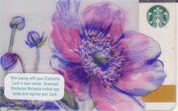 Malaysia Starbucks Card  Flower Springtime 2016-6135 - Gift Cards