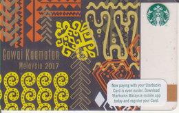 Malaysia Starbucks Card Gawai Kaamatan 2016 -  2017-6138 - Gift Cards