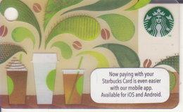 "Malaysia Starbucks Card Mini ""How To Make Coffee"" 2014-6105 - Gift Cards"