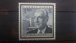 AUSTRIA 1965 MNH PRESIDENT ADOLF SCHARF - 1945-.... 2nd Republic