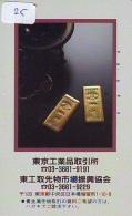 Télécarte Japon * D'OR * PHONECARD JAPAN * FINE GOLD * GOLDBARS  (25)  MONNAIE * COINS  * MONEY - Timbres & Monnaies