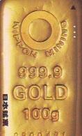Télécarte Japon * D'OR * PHONECARD JAPAN * FINE GOLD * GOLDBARS  (33)  MONNAIE * COINS  * MONEY - Timbres & Monnaies