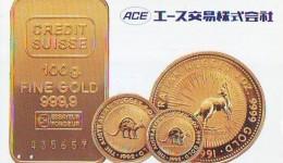 Télécarte Japon * D'OR * PHONECARD JAPAN * FINE GOLD * GOLDBARS  (38)  MONNAIE * COINS  * MONEY - Timbres & Monnaies