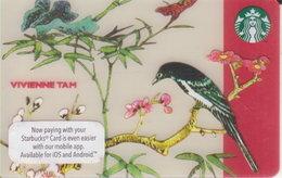 "Malaysia Starbucks Card Mini ""Vivienne Tah"" Bird 2016-6125 - Gift Cards"