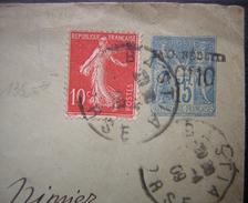 1909 Utilisation Tardive D'un Entier Au Type Sage Taxe Réduite, Voir Photo ! - Entiers Postaux