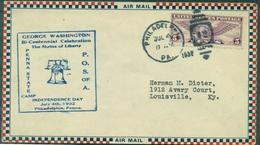 U S A . Pli G.WASHINGTON / INDEPENDANCE DAY 4 Juillet 1932 Tb - 1c. 1918-1940 Cartas