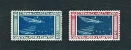 CIRENAICA 1933 - Crociera Balbo - 19,75 Verde Azzurro / 44,75 Carminio E Azzurro - MH - Sa:IT-CI A18-19 - Cirenaica