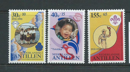 Netherlands Antilles 1990 Scouts Charity Set 3 MNH - Curaçao, Antilles Neérlandaises, Aruba