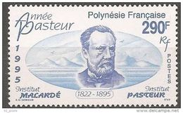 """Polynésie YT 481 """" Louis Pasteur """" 1995 Neuf** - French Polynesia"""
