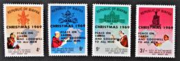 BIAFRA - PREMIERS PAPES A VISITER L'AFRIQUE - SURCHARGES 1969 - NEUFS ** - MI 40/43 - Nigeria (1961-...)