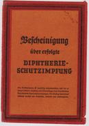 Guerre 40-45 Certificat De Vaccination Contre La Diphtérie Metz 1942 France Occupée - Old Paper