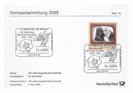 Germany Stempelsammlung 2009 Frankfurt Am Main Bernhard Grzimek (T19-18) - [7] Federal Republic