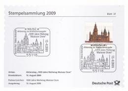 Germany Stempelsammlung 2009 Mainz Mainzer Dom (T19-18) - Lettres & Documents
