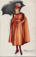 CPA MAUZAN Femme Girl Woman écrite Mode Chapeau Italie N° 80-5 - Mauzan, L.A.