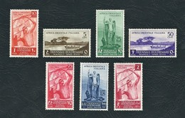 A.O.I. 1940 - 1a Mostra Triennale Delle Terre D'Oltremare -  7 Valori - MH - Sa:IT EA 27-33 - Africa Orientale Italiana