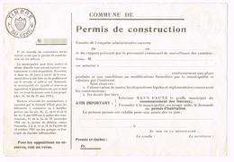 Permis De Construction - Canton De Vaud - Timbre 50 Cent. - Vieux Papiers