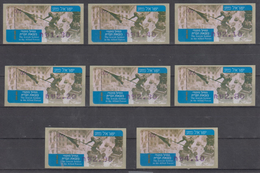 ISRAEL 2005 SIMA KLUSSENDORF ATM THE JEWISH SOLDIER IN THE ALLIED FORCES WORLD WAR II FULL SET OF 8 STAMPS - Viñetas De Franqueo (Frama)